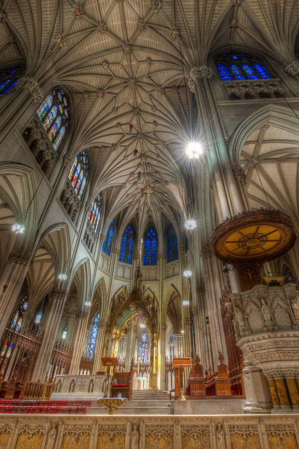 Pulpit and Altar, St. Patrick's Cathedral