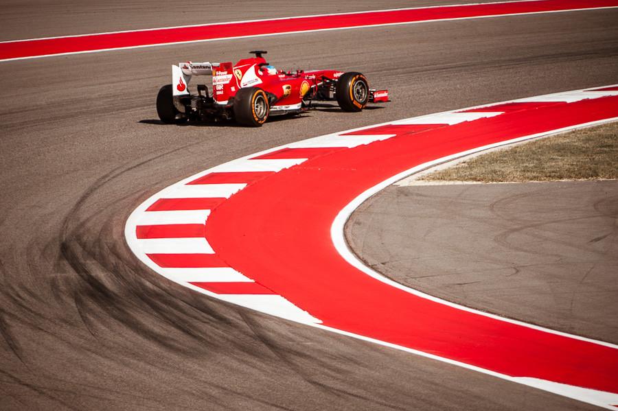 Alonso at Turn 5