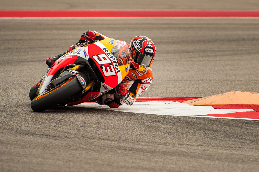 Marquez Alone at the Front