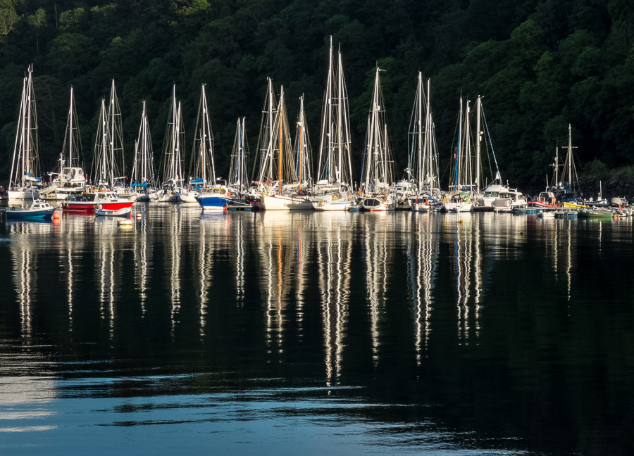Yachts in Tobermory Harbour