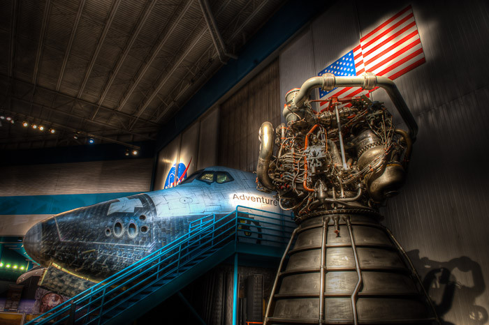 Orbiter Cabin and SSME, Space Center Houston ‹ Dave Wilson Photography
