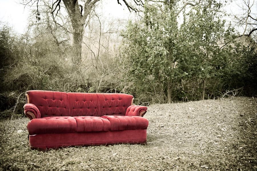 Incongruous Sofa Johnson City Texas Dave Wilson Photography