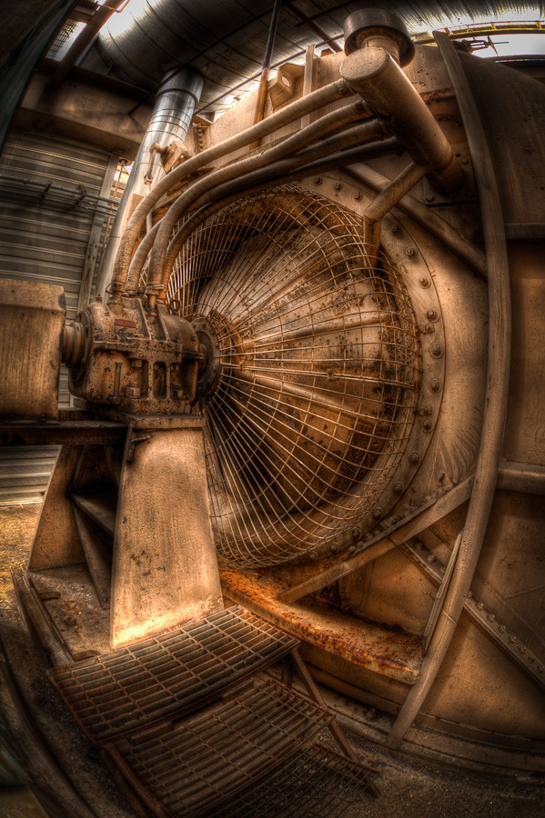 Boiler Fan, Holly St Power Plant | Dave Wilson Photography