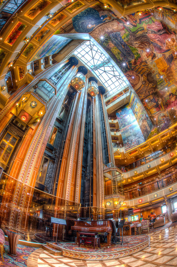 Lobby Atrium, Carnival Conquest ‹ Dave Wilson Photography