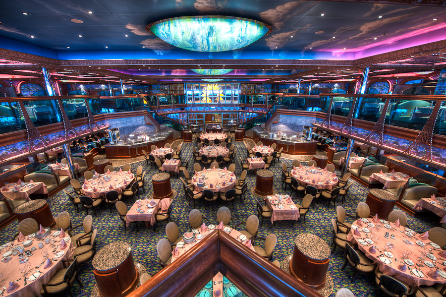 Monet Dining Room, Carnival Conquest