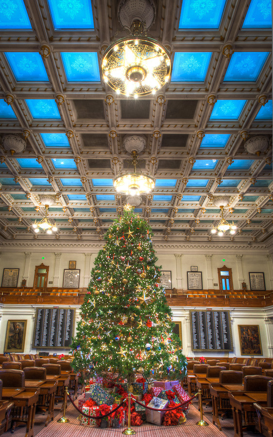 Christmas Tree Texas State Capitol Dave Wilson Photography