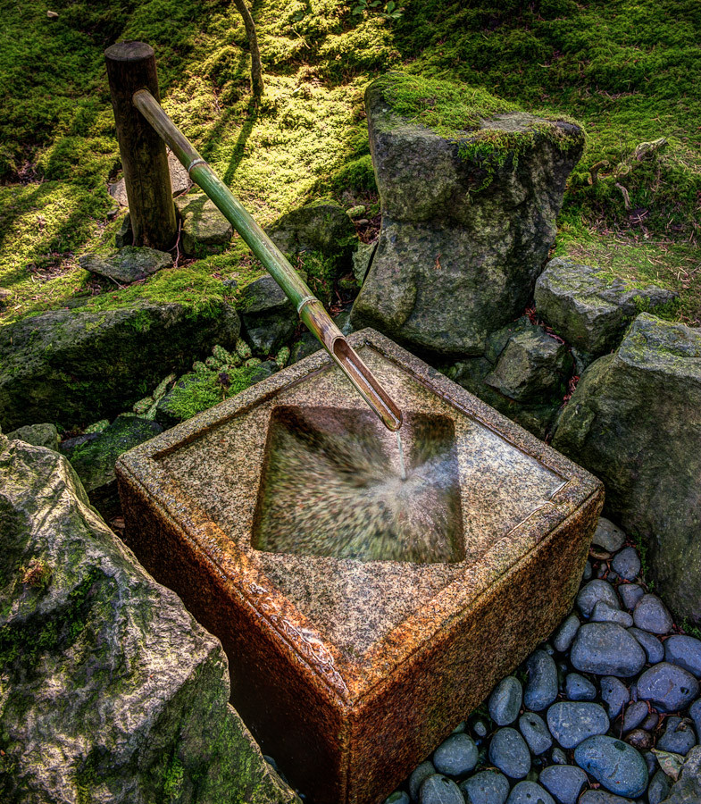 Fountain portland japanese garden dave wilson photography for Japanese water feature