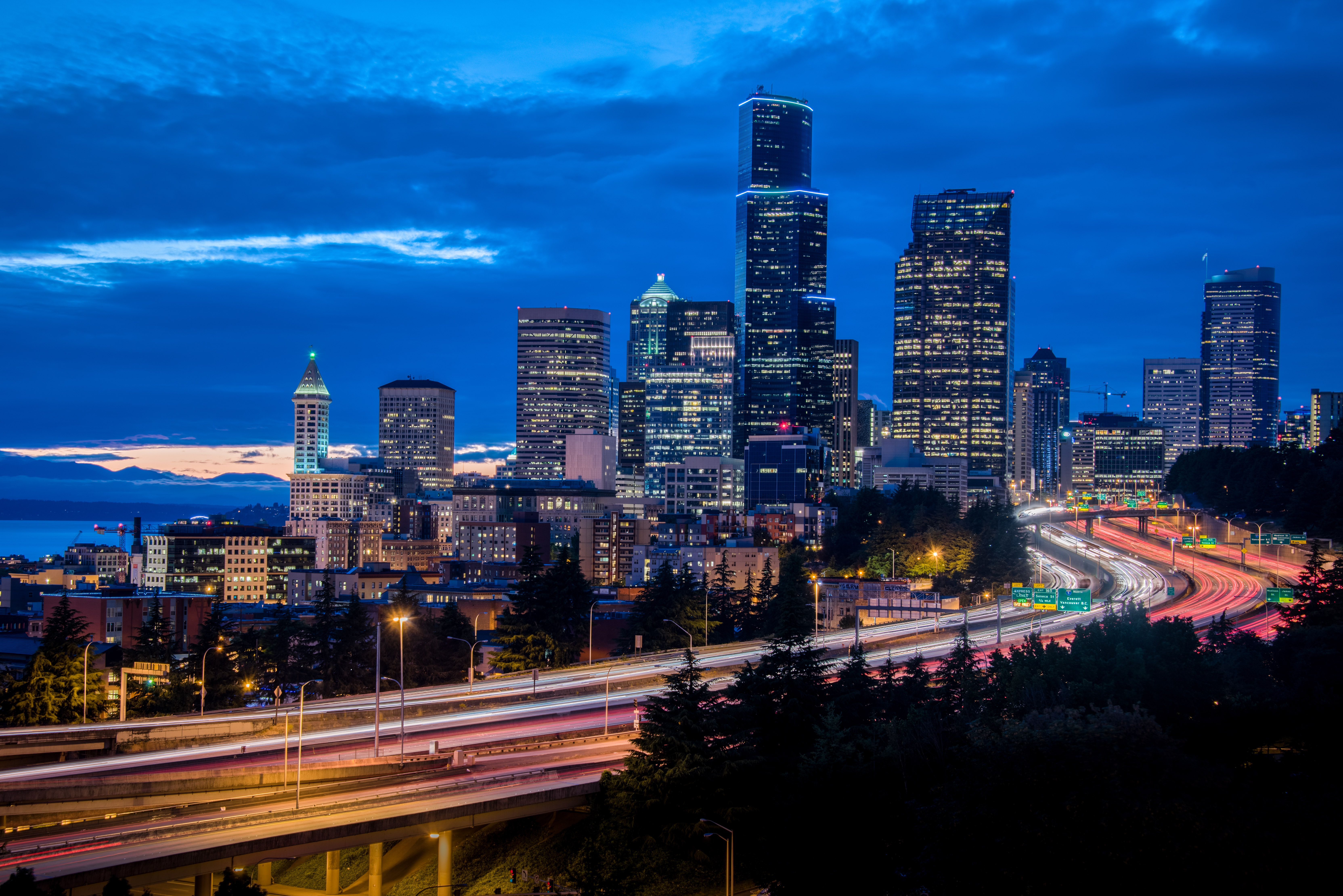Seattle Skyline From 12th Avenue Bridge Dave Wilson Photography