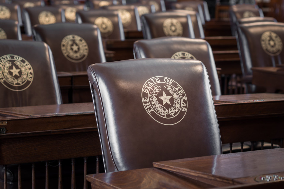 Chairs In The House Of Representatives Chamber In The Texas State Capitol.  Apparently, Each Member Owns Their Own Chair And Can Keep It Once Their  Term In ...