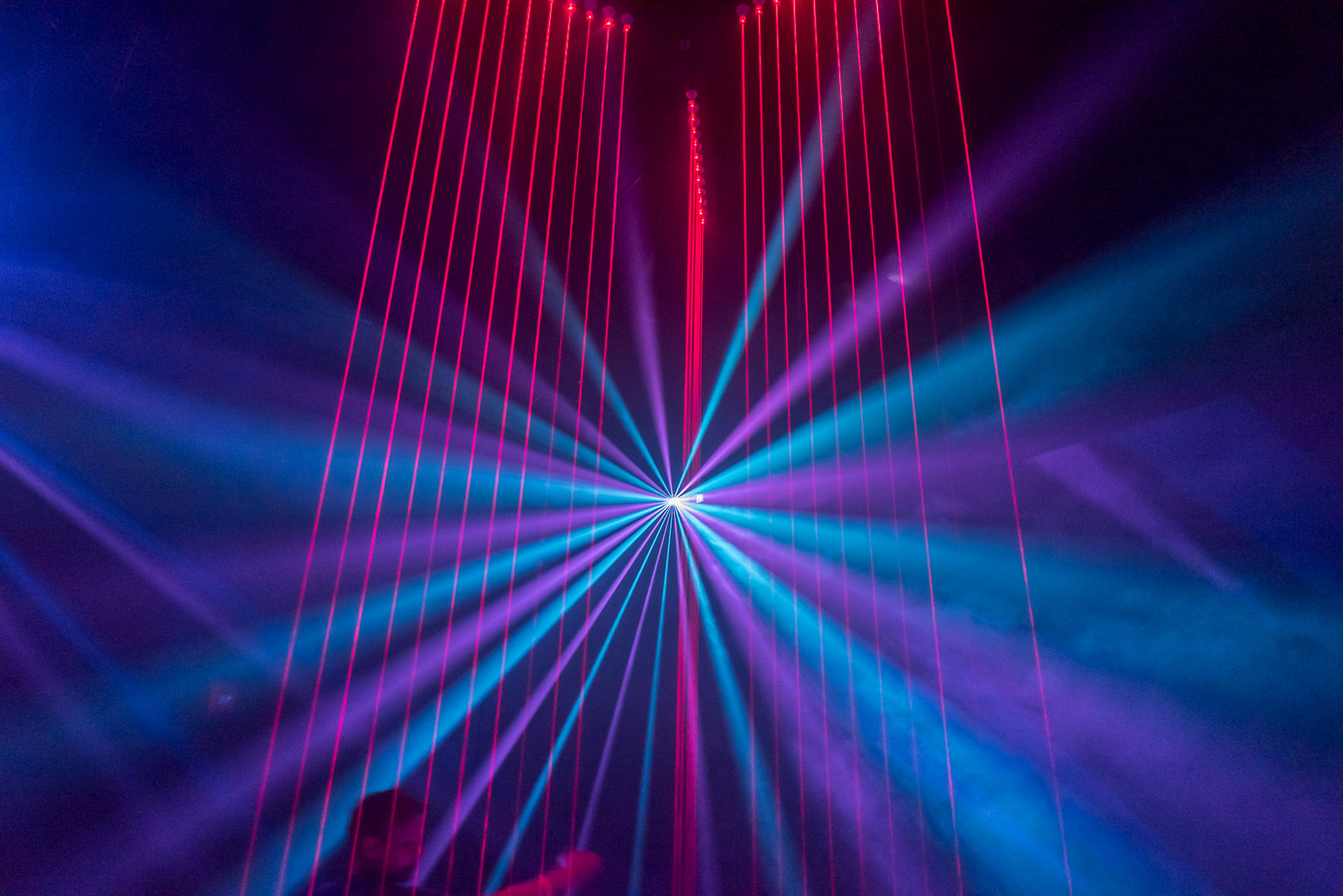 Meow Wolf Laser Harp Dave Wilson Photography